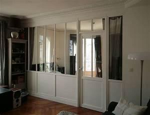 verriere interieure bois sur mesure situee a paris With cloison vitree interieure bois