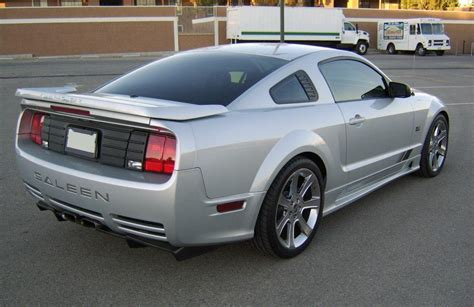 satin silver  saleen  sc ford mustang coupe