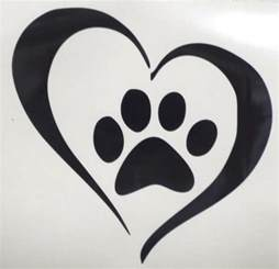 Cat and Dog Paw Print with Heart