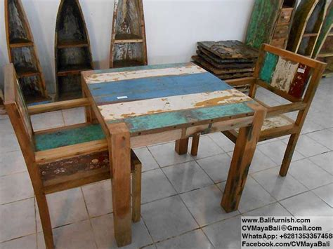 Reclaimed Boat Wood Furniture by Reclaimed Boat Wood Furniture Chairs Bali Indonesia