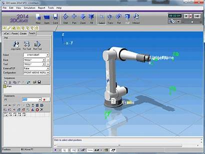 Software Simulation Line Components Robot Production Arm