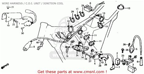 honda xr500r 1982 c usa wire harness c d i unit ignition coil buy wire harness c d i