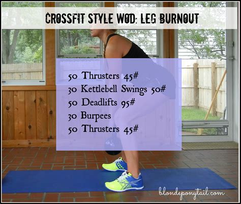 leg burnout workout crossfit wod killer blondeponytail ponytail