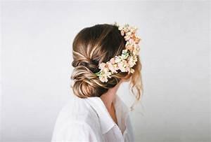Couronne De Fleurs Cheveux Mariage : coiffure chignon mariage the reporthair ~ Farleysfitness.com Idées de Décoration