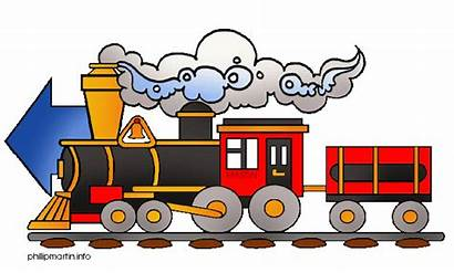 Train Clip Clipart Railroad Panda Moving Western