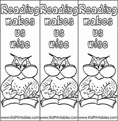 Bookmark Templates Coloring Bookmarks Printable Mark Pages