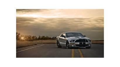 Mustang Shelby Ford Muscle Wallpapers Road Sunset