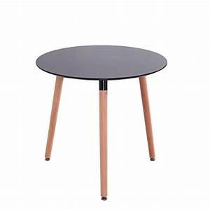 Tisch Rund 70 Cm : mdf inspiration retro esstisch rund 80 cm durchmesser schwarz tisch esszimmerst hle ~ Bigdaddyawards.com Haus und Dekorationen