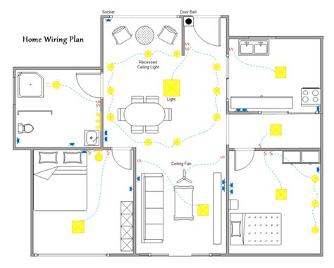 how to wire a room in house electrical online 4u home wiring plan software making wiring plans easily