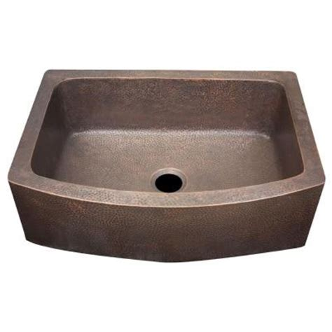 home depot copper sink imperial farmhouse hammered copper 29x20 5x 10 in 0 hole