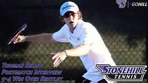 Stonehill Men's Tennis junior captain Thomas Bellio ...