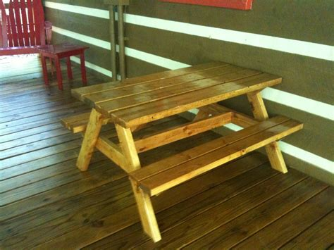 ana white bigger kids picnic table diy projects