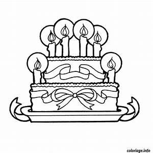 Dessin Gateau Anniversaire : coloriage gateau anniversaire 6 ans dessin ~ Melissatoandfro.com Idées de Décoration