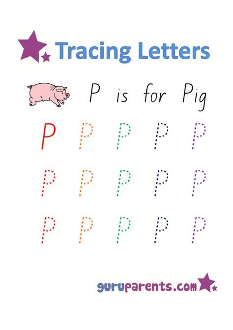 letter p worksheets guruparents