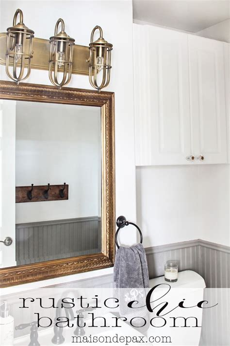 Rustic Chic Bathroom Ideas by 25 Best Ideas About Rustic Chic Bathrooms On