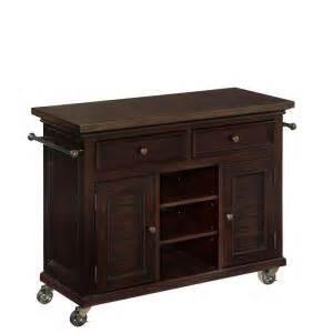 espresso kitchen cart home styles 44 5 in w antique stainless top espresso 3594
