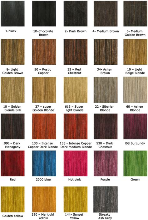 Hair Color Chart by Hair Color Chart Hairstyles To