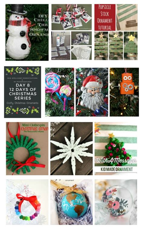 12 days of christmas decorations 12 days of crafty ornaments