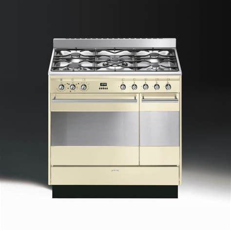 smeg concert suk92p9 1 dual fuel 90cm range cooker gloss
