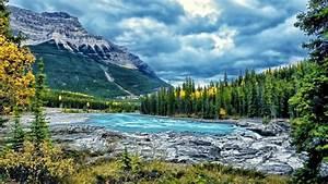 Landscape, Mountain, River, Blue, Water, Forest, Cloud, Desktop, Wallpaper, Hd, Widescreen, Wallpapers13, Com