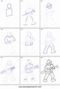 How To Draw A Firefighter Printable Step By Step Drawing