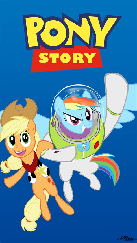 story pony deviantart toy buzz crossover mlp lightyear woody applejack rainbow pixar dash fs71 fc08 mylittlepony dump