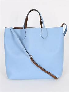 Gucci - Ramble Reversible Blue and Brown Shopping Bag ...