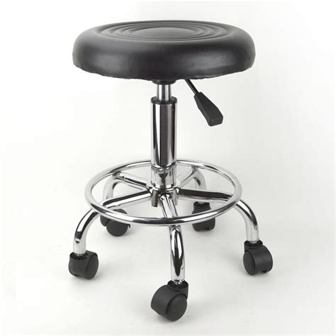 Rolling Stool by Black Adjustable Rolling Stool Salon Chair