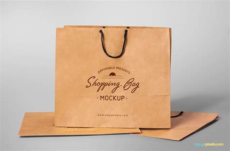 Bag mockup is a smart bag that can showcase your marketing brand personality designs. Free Shopping Bag Mockup | ZippyPixels