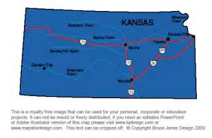 Kansas State Map with Capital City