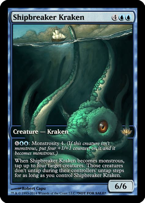 mtg shipbreaker kraken deck official digital rendering thread artwork creativity