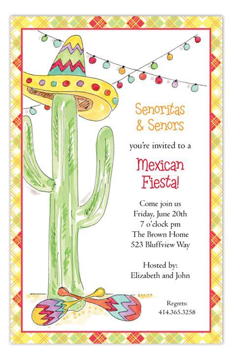 fiesta cactus invitation cute invitations