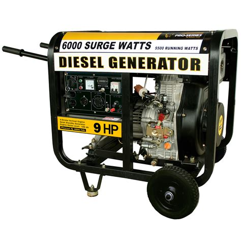 small propane generators for home use pro series portable diesel generator gensd55 6000 watt