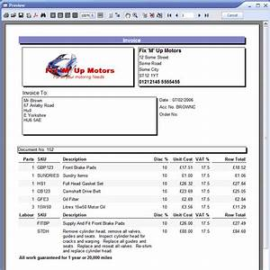 garage invoice template invoice example With garage invoice template