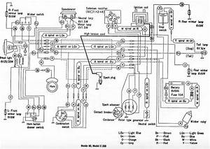 Honda C200 Wiring Diagram  61610