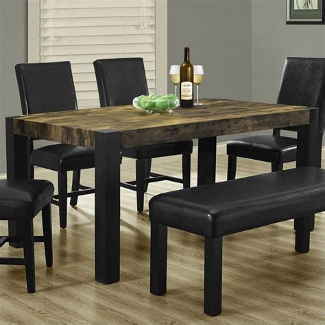 black distressed dining table monarch rectangular dining table dining furniture in