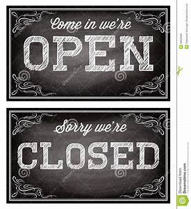 templates for open and closed signboards retro style stock With open closed sign template