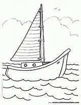 Boat Sailboat Coloring Pages Drawing Template Sailing Sheet Sketch Printout Coloing Motor Templates Popular Getdrawings Coloringhome Comments sketch template