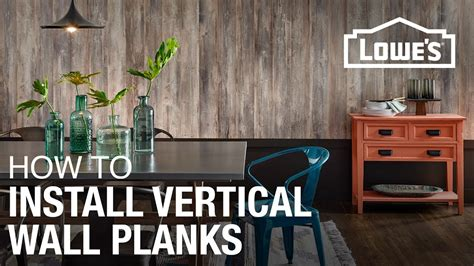 install laminate planks vertically   wall youtube
