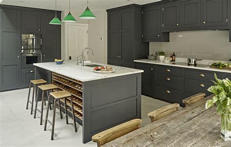 Country Kitchen With Island - dark grey kitchen design battersea brayer design kitchens