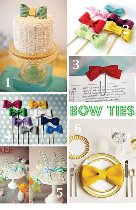 paisley card co party theme bow tie baby shower