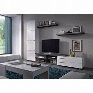 Meuble Tele Gris : meuble tv hi fi adhara meuble tv mural 240 cm blanc gris meuble de tv pinterest tvs ~ Teatrodelosmanantiales.com Idées de Décoration