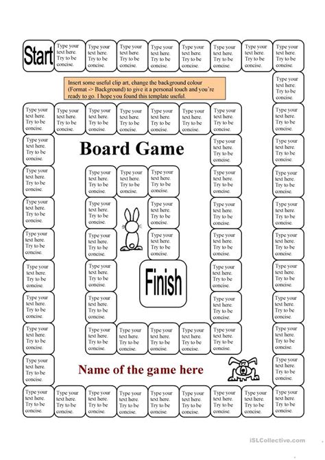 board game template  squares  page worksheet