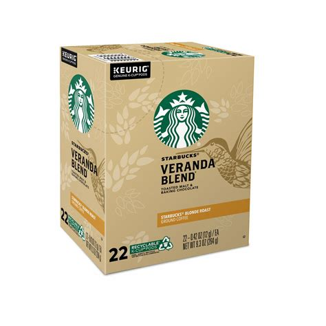 Enjoy the starbucks coffee you love without leaving your home or office. Starbucks Veranda Blend Blonde Coffee Keurig K-Cup Pods 22-Count | MrOrganic Store