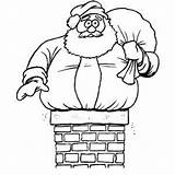 Chimney Santa Too Coloring sketch template