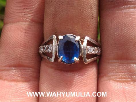 natural blue safir murah meriah batu cincin permata blue safir australi cewek kode 494