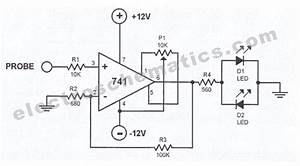 polarity indicator circuit electronic circuit With led tester circuit