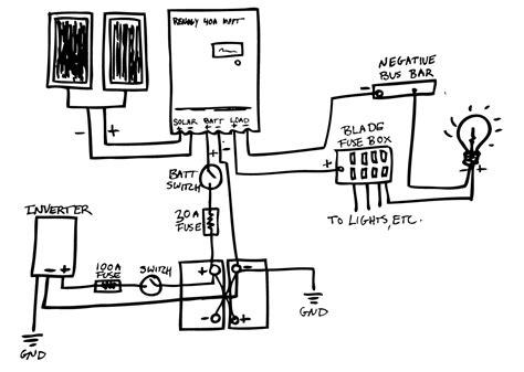 van life solar panel wiring diagram vw lt solar