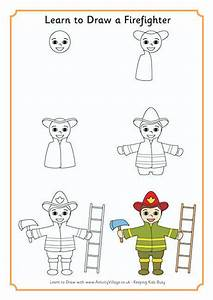 Learn To Draw A Firefighter Us
