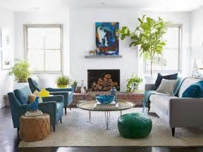 contemporary home makeover fireplaces tables and plants
